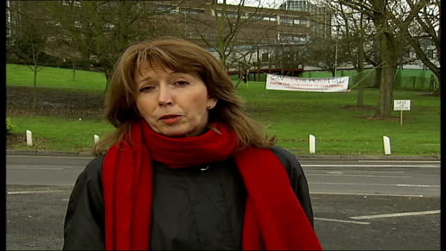 online petition to prevent closure of the royal surrey county hospital guildford royal surrey hospital ext reporter to camera - petition stock videos & royalty-free footage