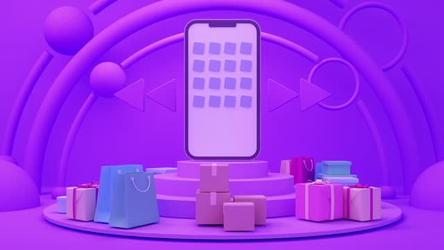 stockvideo's en b-roll-footage met online winkelen en reclame concept - elektronische handel