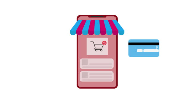 online shopping animation - flat stock videos & royalty-free footage