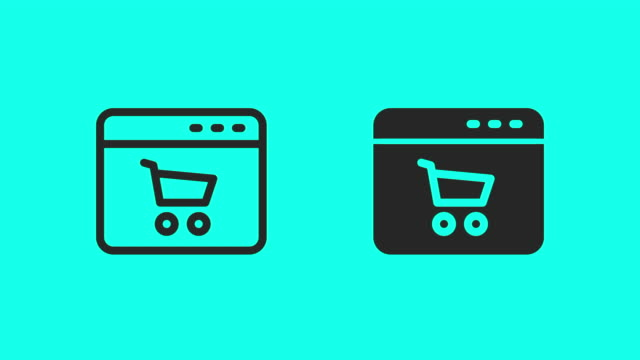 online shopping icons - vector animate - global communications vector stock videos & royalty-free footage