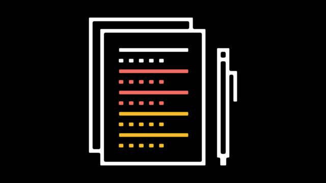 vídeos y material grabado en eventos de stock de encuestas línea icono animación con alfa - reportaje imágenes