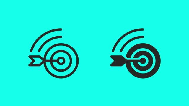 online target market icons - vector animate - zielgruppe stock-videos und b-roll-filmmaterial