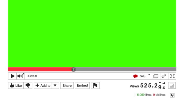 online video view counter increasing. green screen area for own video - ちやほや点の映像素材/bロール