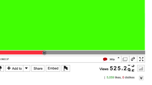 online video view counter increasing. green screen area for own video - verherrlichung stock-videos und b-roll-filmmaterial