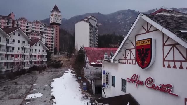 Only an hour's drive from the Winter Olympics venues in South Korea a stained mattress lies in an abandoned ski resort a harbinger of the gleaming...