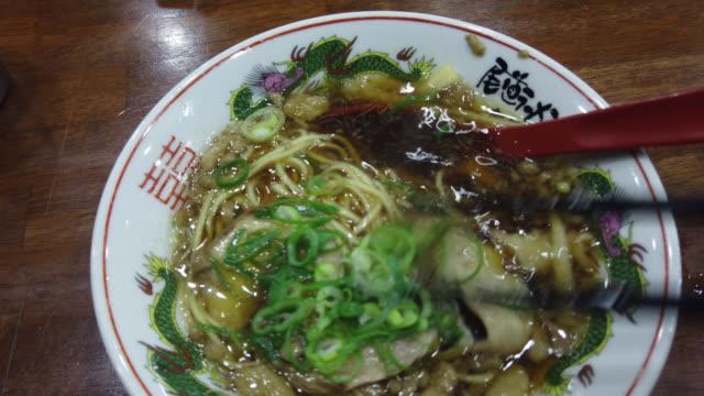 onomichi ramen, onomichi, japan - onomichi hiroshima stock videos and b-roll footage