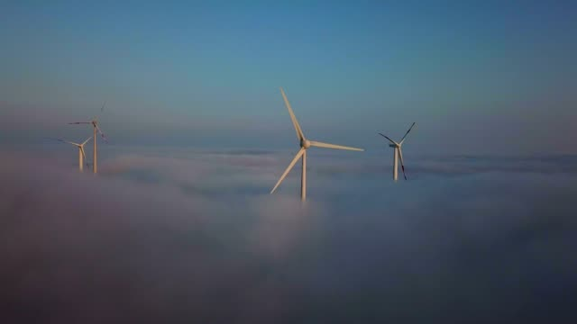 onshore wind farm, kirf, saargau, rhineland-palatinate, germany, europe - nachhaltigkeit stock-videos und b-roll-filmmaterial