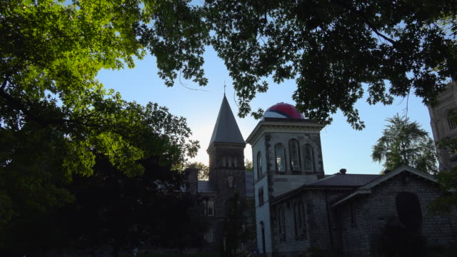 Ontario, Canada: old buildings in the University of Toronto Saint George Campus in the downtown district. The famous place is National Heritage Site and a tourist attraction in the Canadian city