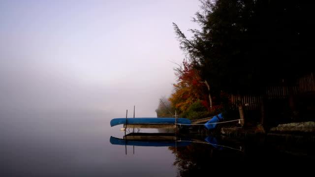 vídeos y material grabado en eventos de stock de ontario no conoce el muelle en el famoso lago - árbol de hoja caduca