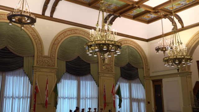 stockvideo's en b-roll-footage met ontario legislative building or queen's park interior architectural details the heritage building is the seat of the ontario provincial government - sociale geschiedenis
