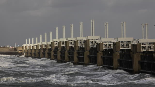 Oosterschelde Flood Barrier. Part of the Delta Works