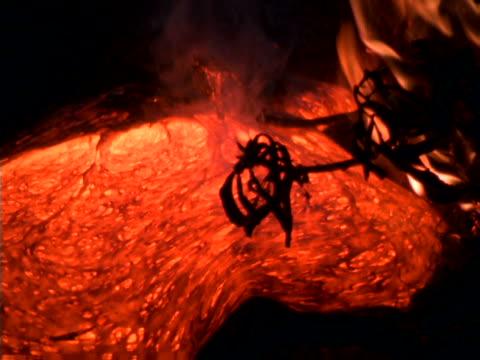 Oozing orange lava