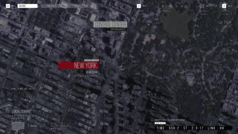 操作下空中無人機跟蹤拍攝:白色自主自駕汽車通過城市移動。概念:人工智慧掃描周邊環境,檢測汽車。 - 方向 個影片檔及 b 捲影像