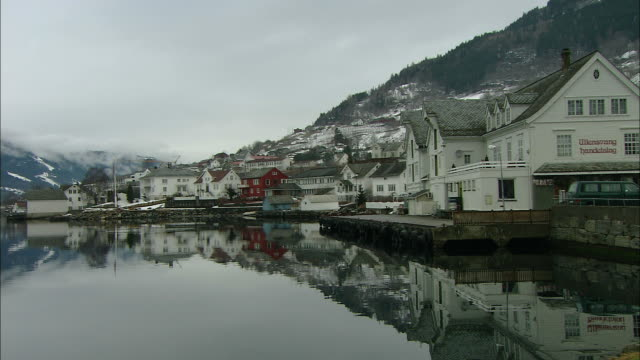 Opedal town in Fjord, Norway