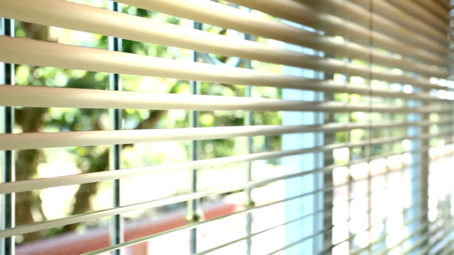 Open and close window blinds