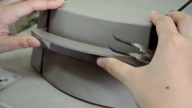 open and put aluminum pan on dsc - pinching stock videos & royalty-free footage
