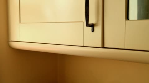 open and shut the kitchen door of cupboard - cabinet stock videos & royalty-free footage