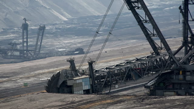 open brown coal pit garzweiler, grevenbroich, north rhine westphalia, germany - coal mine stock videos and b-roll footage