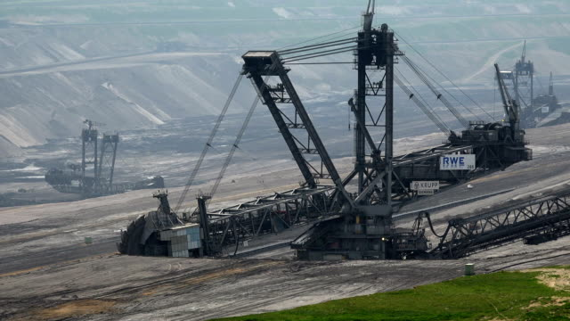 open brown coal pit garzweiler, grevenbroich, north rhine westphalia, germany - brown stock videos & royalty-free footage