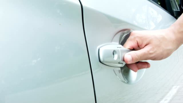open car door. - handle stock videos and b-roll footage