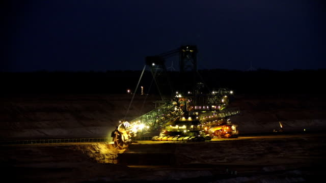 open cast mining at night - surface mine stock videos and b-roll footage