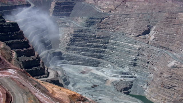 open cast mining - super pit gold mine in kalgoorlie boulder in western australia - open cast mine stock videos & royalty-free footage