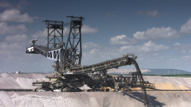 open cast mining - crane construction machinery stock videos & royalty-free footage