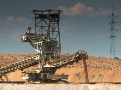 ntsc: open cast mining - pit mine stock videos and b-roll footage