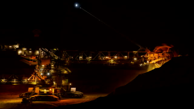 time lapse: open cast mining - surface mine stock videos and b-roll footage