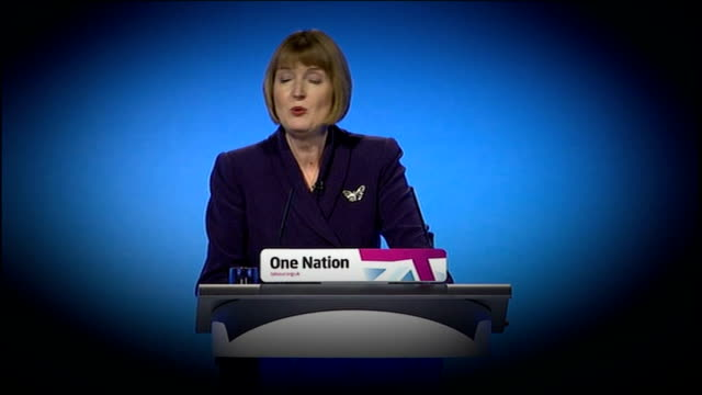day one / sexism row 4102012 / r04101205 manchester harriet harman mp addressing labour party conference - sex discrimination stock videos & royalty-free footage