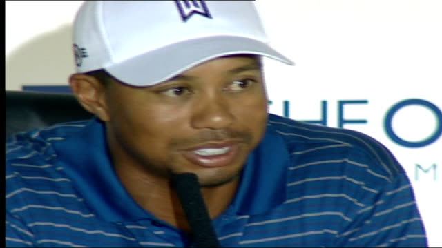Tiger Woods and Nick Faldo feud Tiger Woods press conference SOT On memories of his father