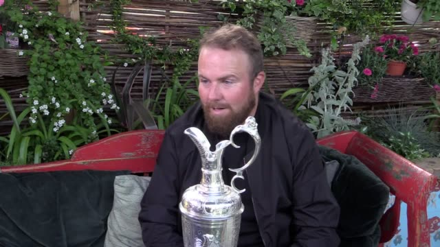 stockvideo's en b-roll-footage met open championship winner shane lowry speaks to pa about his victory and celebrations after clinching his first major at royal portrush the 32yearold... - british open