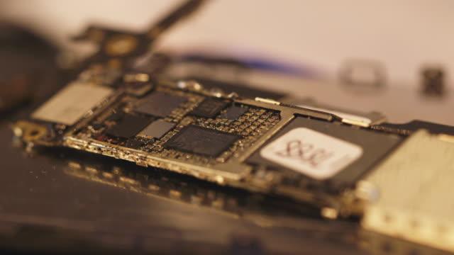open circuit board, close up - computerchip stock-videos und b-roll-filmmaterial
