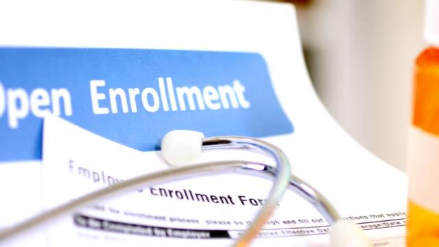 オープン登録医療給付の形態。 - 請求書点の映像素材/bロール