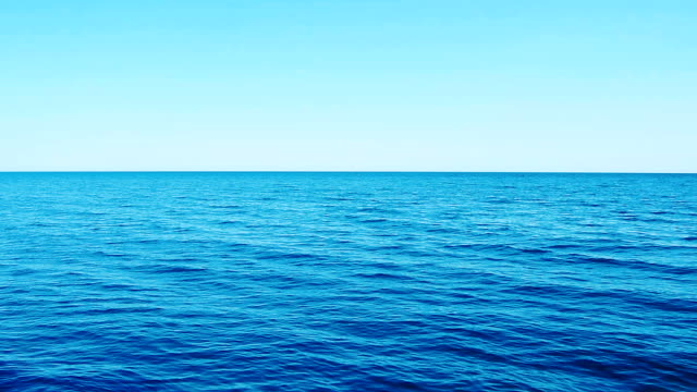 open expanse of the blue sea