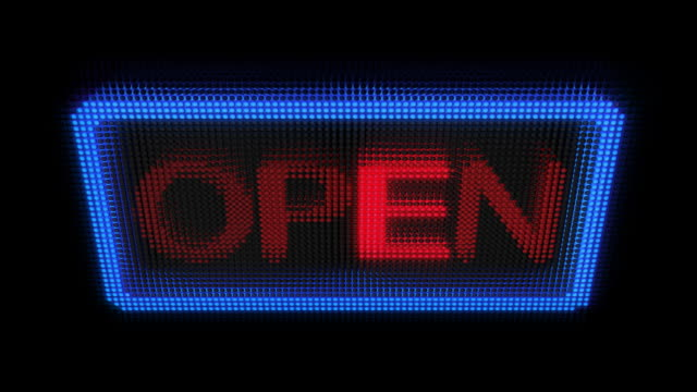Open for Business Sign (4 Versions)