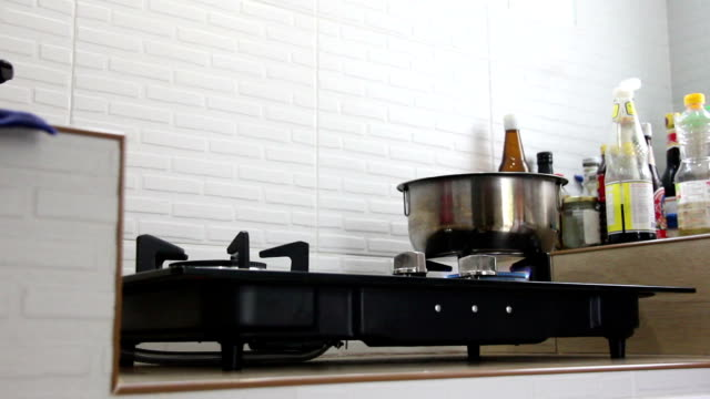 open gas stove - cylinder stock videos & royalty-free footage