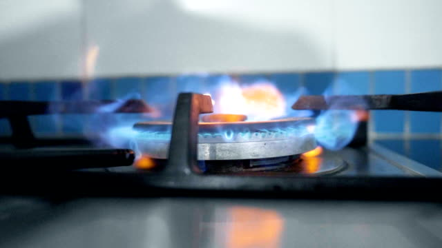 open gas stove - gas stock videos & royalty-free footage