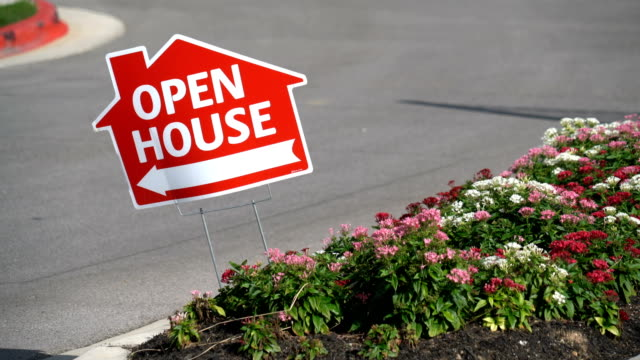 open house this way - house stock videos & royalty-free footage
