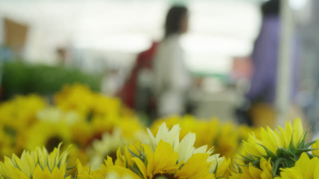 open market - sunflowers for sale - local produce stock videos & royalty-free footage
