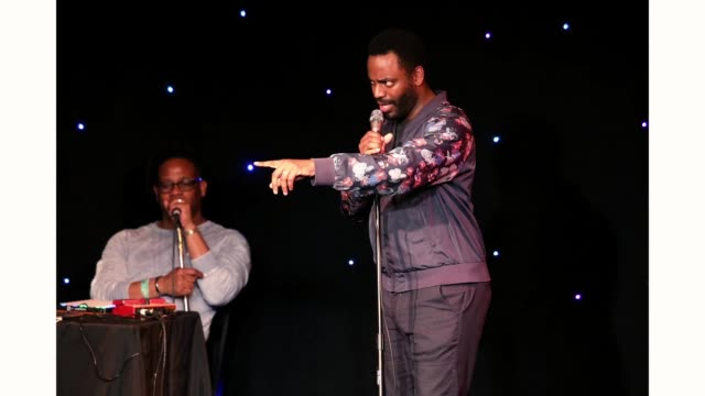 Open Mike Eagle and Baron Vaughn speak onstage at 'The New Negroes with Baron Vaughn and Open Mike Eagle' during the 2019 SXSW Conference and...