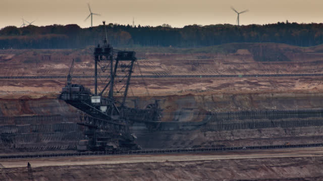 TIME LAPSE: Open Pit Brown Coal Mine