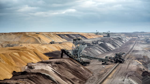 open pit coal mine - surface mine stock videos and b-roll footage