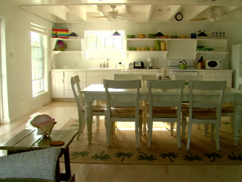 MS,  open plan kitchen with dining table,  Harbour Island,  Bahamas