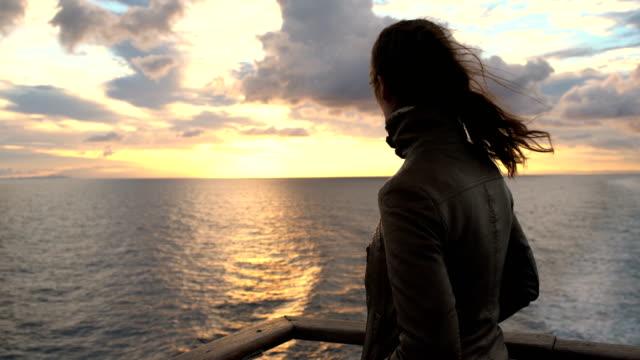 vídeos de stock e filmes b-roll de open sea view - ferry
