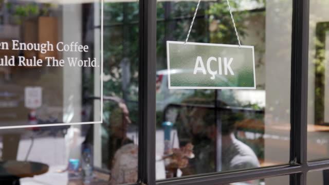 AÇIK - Open sign in Turkish language