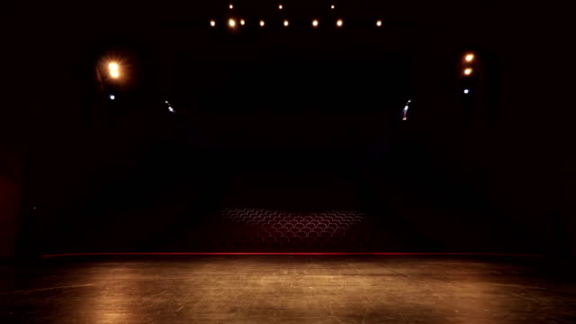open spot lights in convention, theatre center - stage performance space stock videos & royalty-free footage