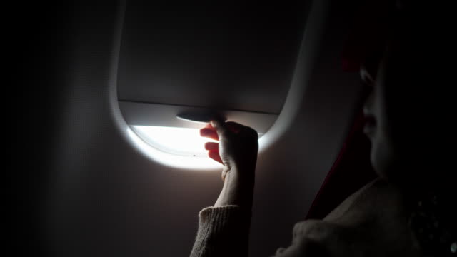Open the window on airplane