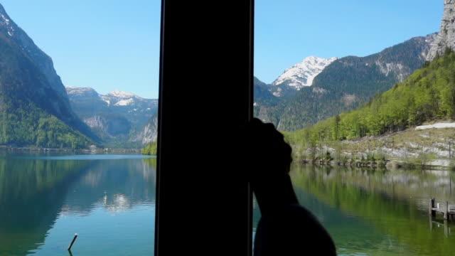 Open to Hallstatter see lake at Hallstatt ,Austria