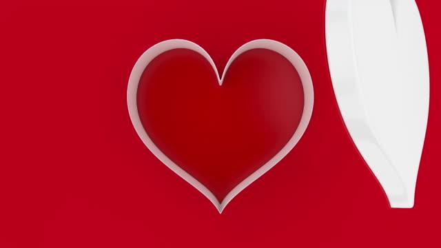 vídeos y material grabado en eventos de stock de abierto de su corazón rosa - tarjeta del día de san valentín